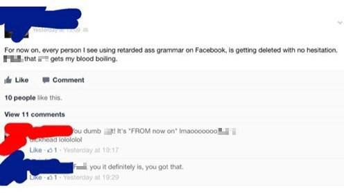 grammar,irony,spelling