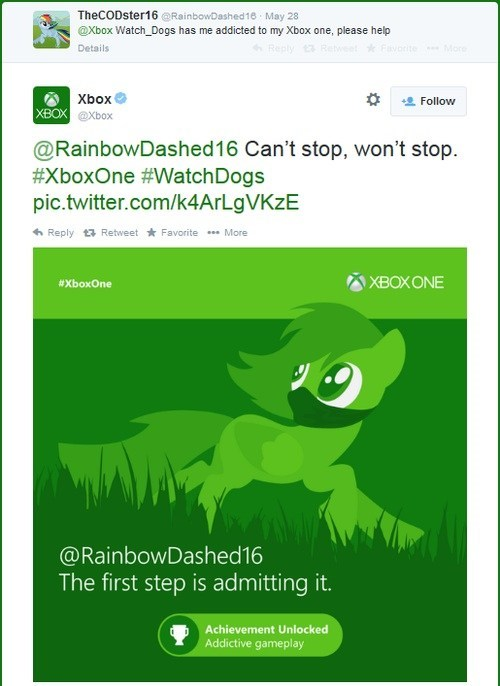 rainbow dash,watch dogs,twitter
