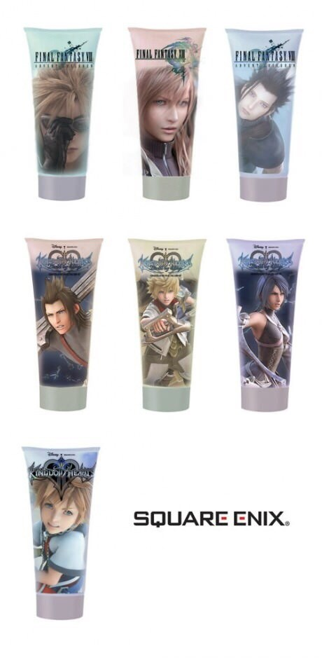 final fantasy,hair gel,square enix,kingdom hearts