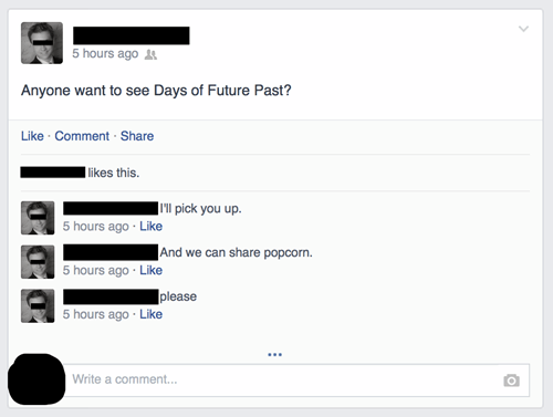 forever alone,facebook,days of future past,x men