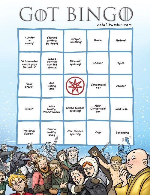 Game of Thrones bingo - 8205080576