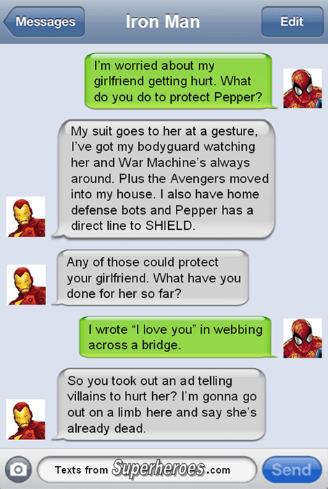iron man,Spider-Man,dating