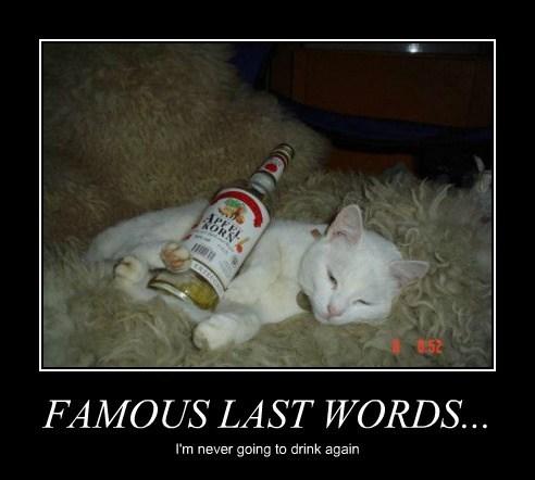 FAMOUS LAST WORDS...
