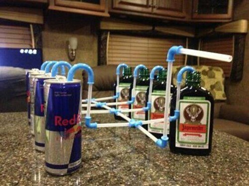 funny jagermeister red bull straws - 8205856000