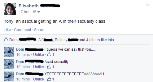 asexual class funny puns - 8205895424
