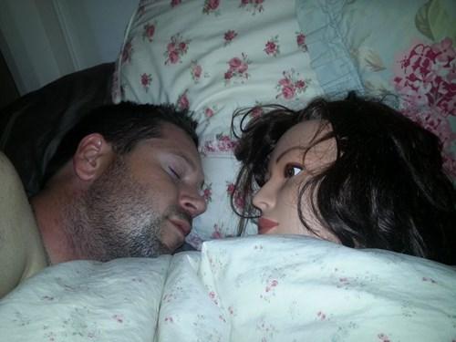 creepy,Mannequins,sleeping