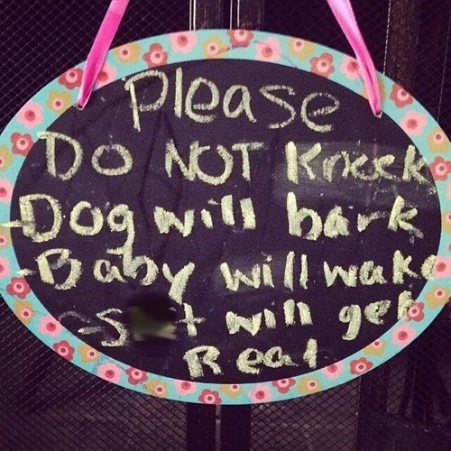 dogs baby note parenting - 8206013952
