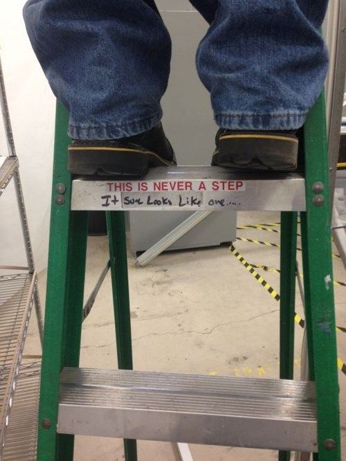 monday thru friday,warning,ladder