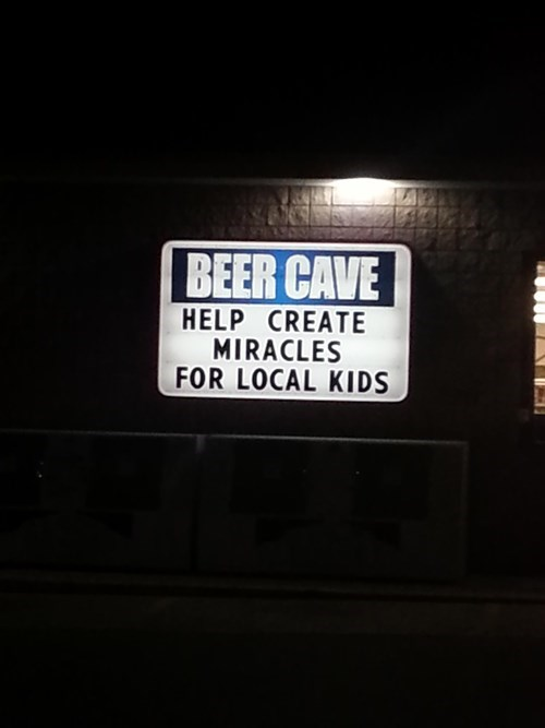 beer,cave,kids,funny,sign,wtf