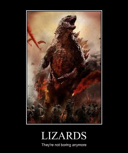 lizards boring godzilla funny - 8206763776