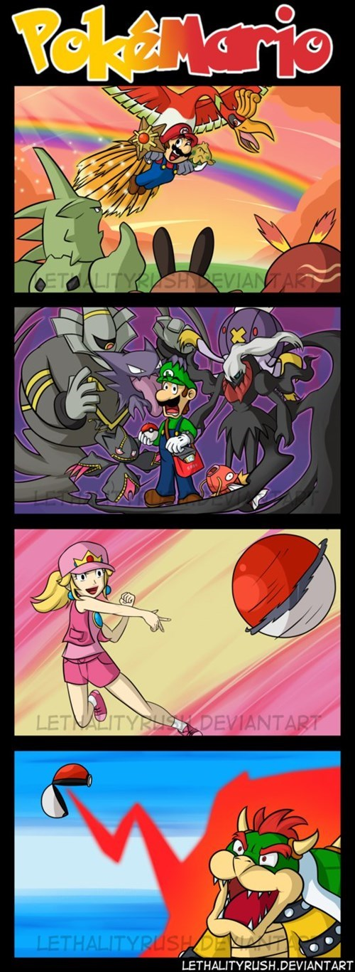 Pokémon Fan Art Super Mario bros web comics