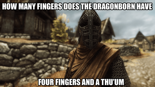 dragonborn puns Skyrim - 8207244544