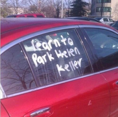 helen keller blindness parking - 8207716096