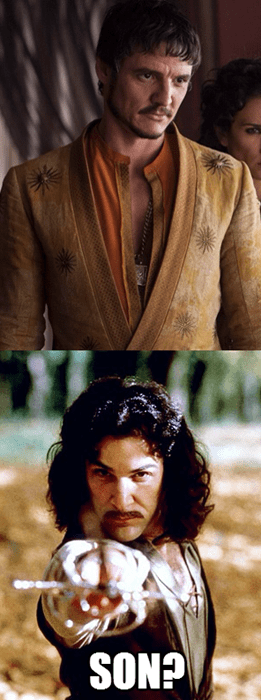 crossover,Game of Thrones,the princess bride,oberyn martell