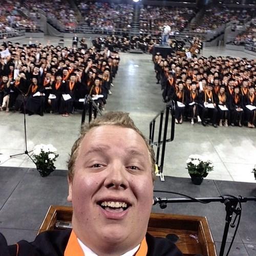 wtf graduation selfie funny - 8208496640