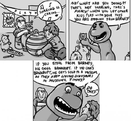 barney sad but true web comics - 8208868352