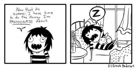 summer sleeping web comics living the life - 8208883456