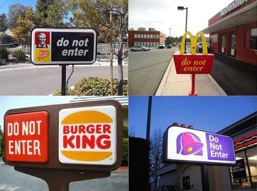 taco bell,McDonald's,kfc,burger king,fast food