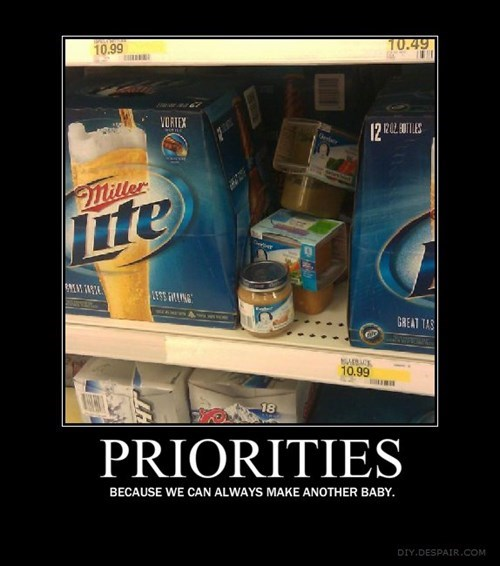 beer,important,kids,priorities,funny