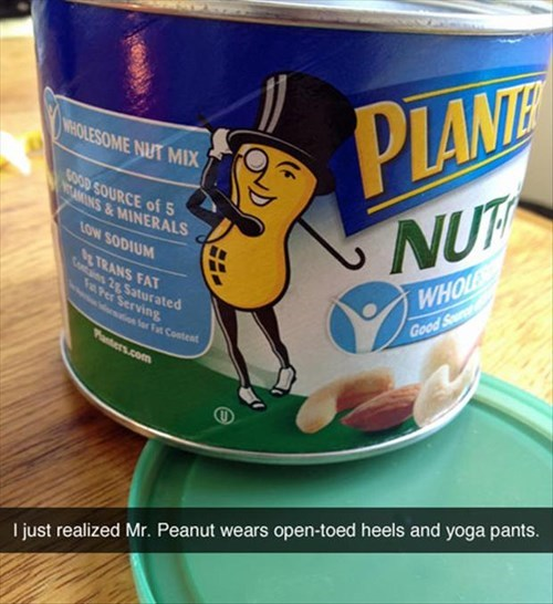 logo mr peanut poorly dressed yoga pants g rated - 8209056256