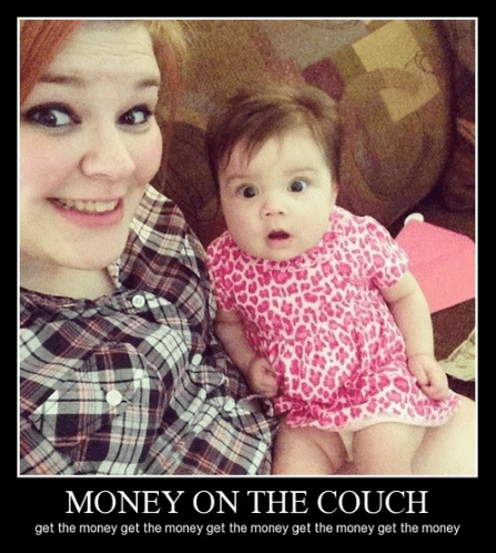 kids couch distracting funny money