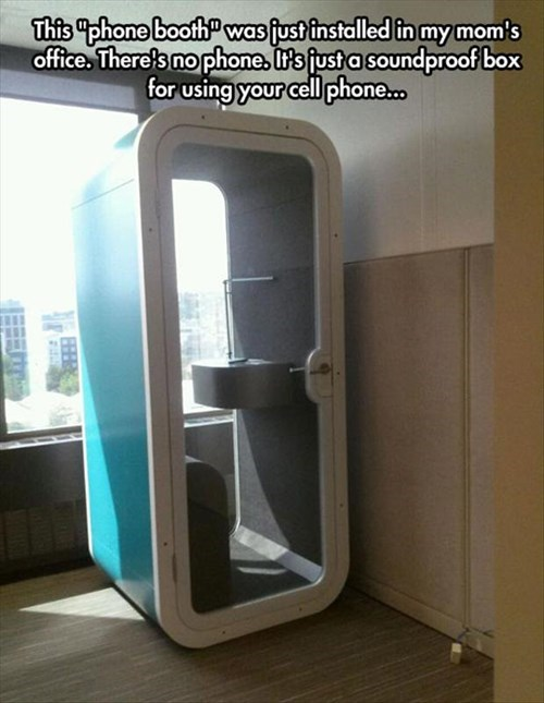 monday thru friday cell phone soundproof phone booth g rated - 8209124864