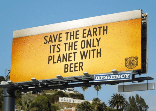 beer save the planet funny earth - 8209140736