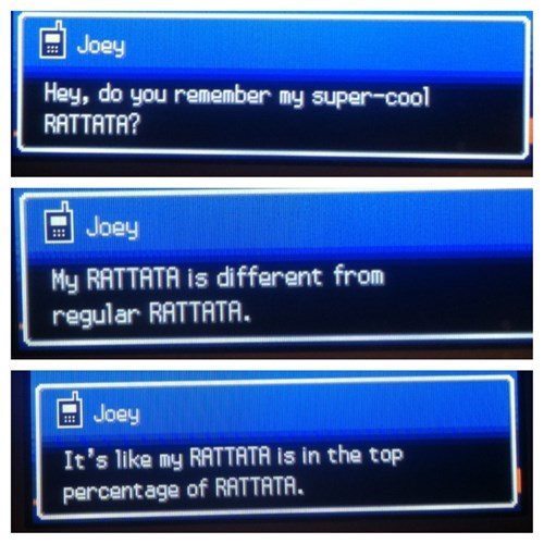 Pokémon top percentage rattata Joey - 8209157376