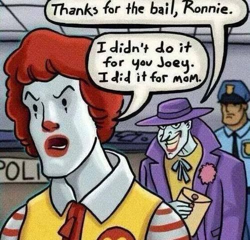 Ronald McDonald comics the joker - 8209160704
