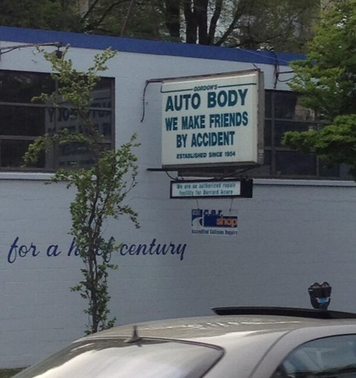monday thru friday,sign,repair,friends,cars