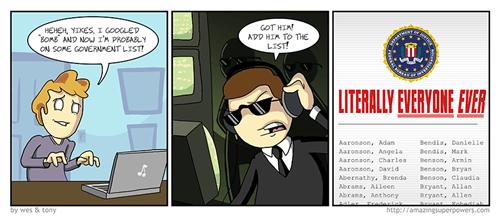 NSA,modern living,internet,google,web comics