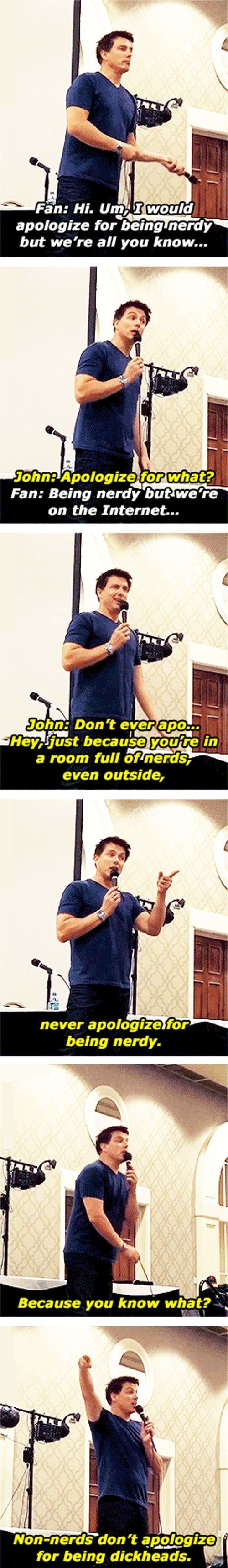 John Barrowman Knows The Difference Between Nerds and Everyone Else