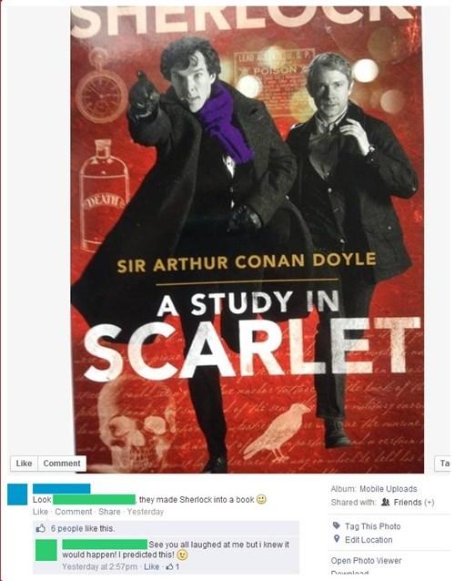 reading facepalm books Sherlock failbook - 8209391360