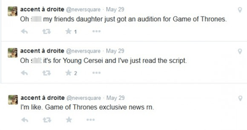 twitter rumors Game of Thrones cersei lannister - 8209926656