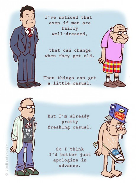 getting old,fashion,old people,web comics