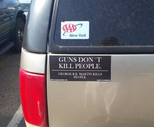 grrm,Game of Thrones,George RR Martin,bumper stickers