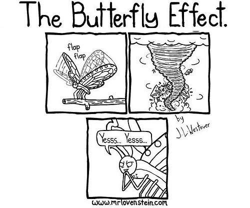 the butterfly effect,butterflies,evil,web comics