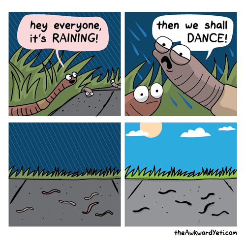 worms,dancing,rain,web comics