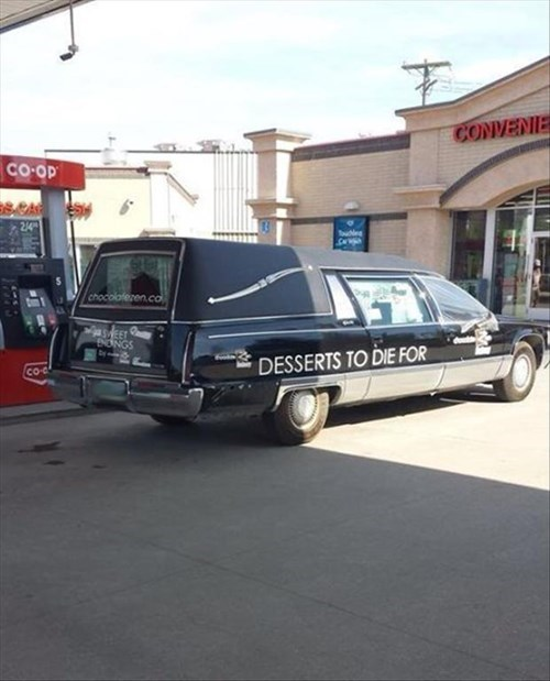 monday thru friday hearse gimmick dessert business name g rated - 8210053888