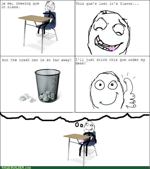 gum,desk,hell