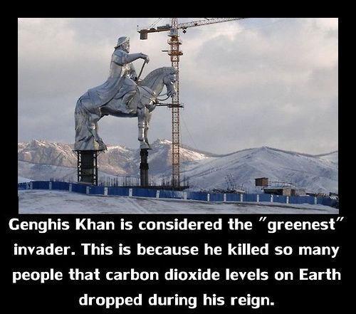 green ghengis khan carbon dioxide funny - 8210097920
