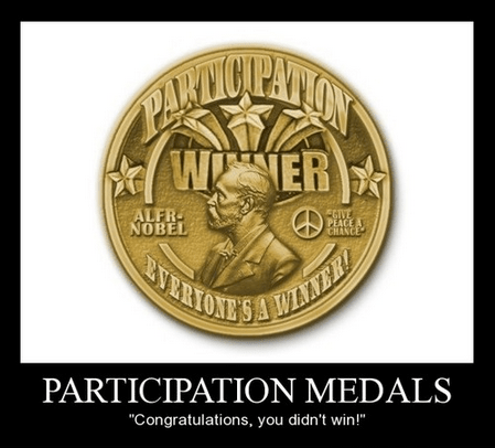 lesson participation medal funny