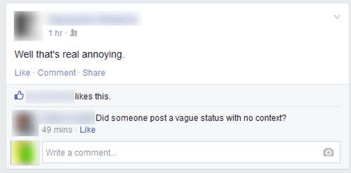 rage vaguebook annoying