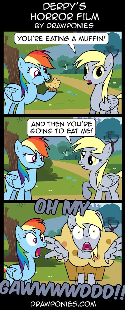 Fan Art,derpy hooves,muffins,rainbow dash