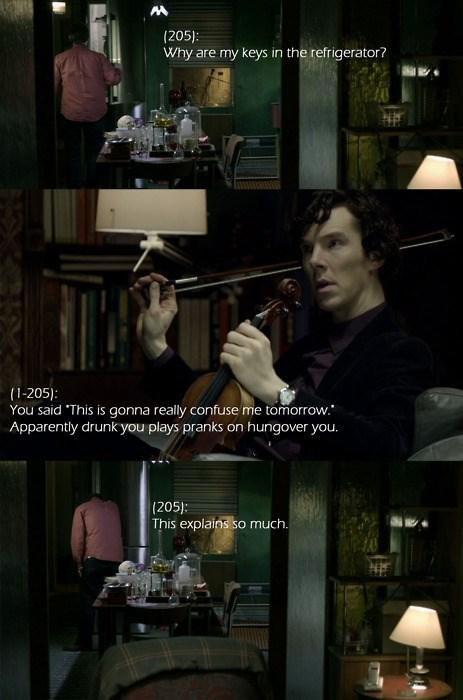 drunk jerk Sherlock funny Watson