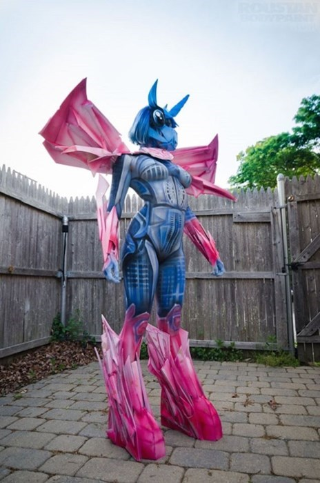 transformers,cosplay,body paint,MLP