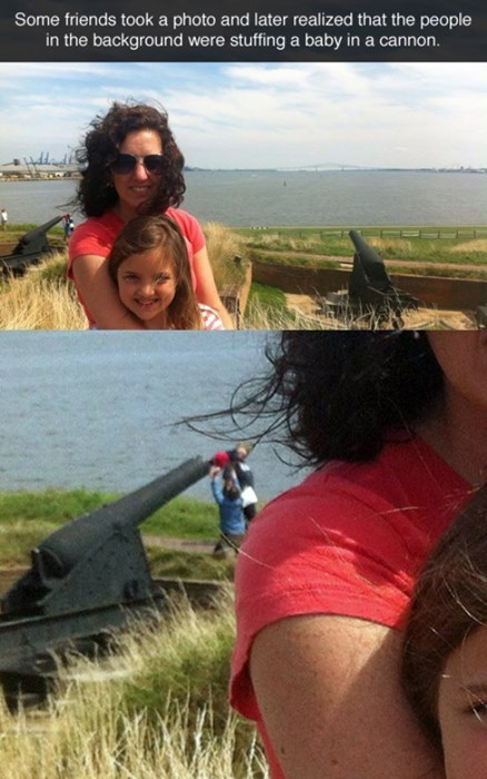 cannon,photobomb,baby,parenting,g rated