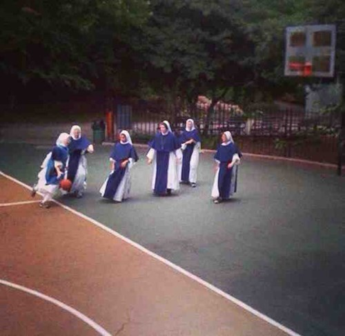 sports,basketball,nun