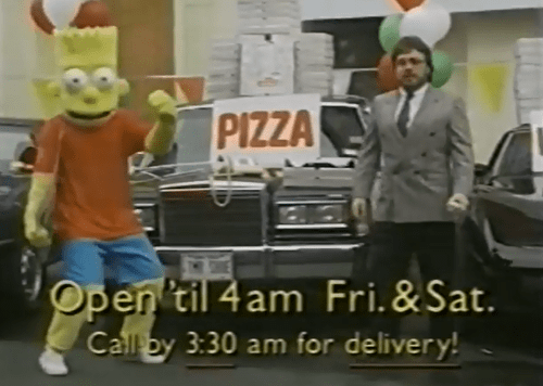 commercial,pizza,bart simpson