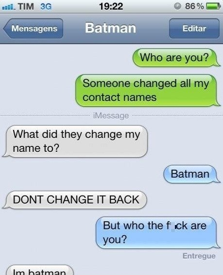 text message,batman